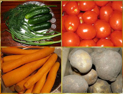 и Сколько помидор огурцов из салат переваривается