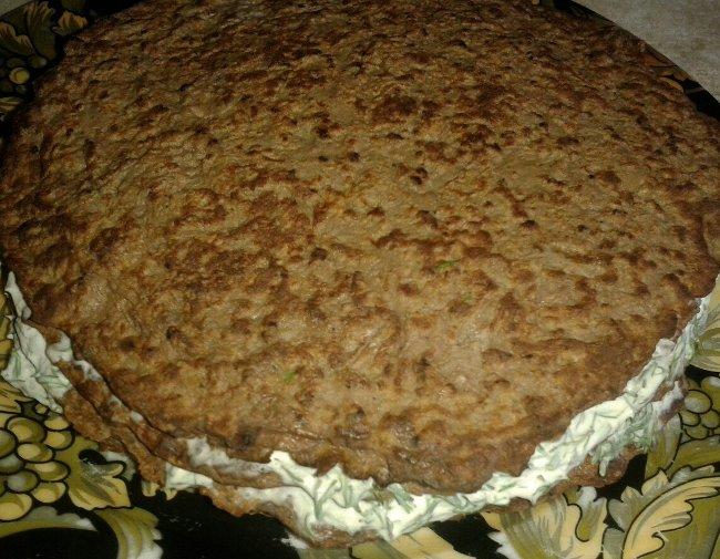 Рецепт приготовления печеночного торта из свиной печени 5