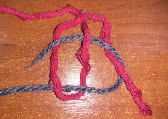 Соединение ниток в вязании