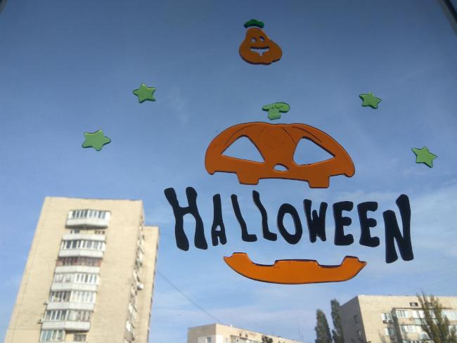 Наклейки на окна на Halloween