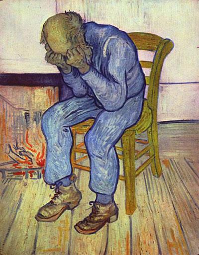Картина «На пороге вечности», автор Винсент Вильям ван Гог (май 1890)